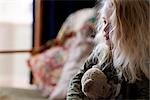 Close up of a girl holding a teddy bear    Stock Photo - Premium Rights-Managed, Artist: ableimages, Code: 822-02739124