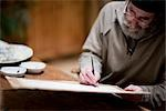 Close up of an artist painting at his desk    Stock Photo - Premium Rights-Managed, Artist: ableimages, Code: 822-02739404