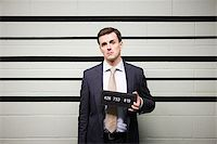Mugshot of businessman Stock Photo - Premium Royalty-Freenull, Code: 614-02740003