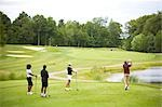 People Golfing    Stock Photo - Premium Royalty-Free, Artist: Blue Images Online, Code: 600-02751469