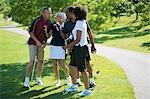 Couples Chatting on Golf Course    Stock Photo - Premium Royalty-Free, Artist: Blue Images Online, Code: 600-02751472