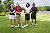 Group Portrait of Golfers Stock Photo - Premium Royalty-Freenull, Code: 600-02751519