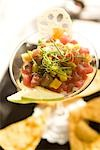 Close-up of ceviche in martini glass    Stock Photo - Premium Rights-Managed, Artist: Kablonk! RM, Code: 842-02752127