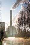 Frimmersdorf Power Station in Winter, Grevenbroich, North Rhine-Westphalia, Germany    Stock Photo - Premium Rights-Managed, Artist: F. Lukasseck, Code: 700-02756659