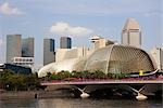 Esplanade - Theatres on the Bay and Skyline of Suntec City, Marina Bay, Singapore