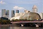 Esplanade - Theatres on the Bay and Skyline of Suntec City, Marina Bay, Singapore