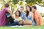 Group of Friends Outdoors    Stock Photo - Premium Rights-Managed, Artist: Kevin Dodge, Code: 700-02757107