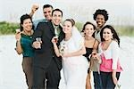 Wedding Party on Beach    Stock Photo - Premium Rights-Managed, Artist: Kevin Dodge, Code: 700-02757117