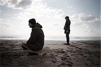 sad lovers break up - Couple on Beach in Winter, Lazio, Rome, Italy    Stock Photo - Premium Rights-Managednull, Code: 700-02757166