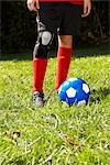 Soccer Player's Feet with Soccer Ball    Stock Photo - Premium Rights-Managed, Artist: SimplyMui, Code: 700-02757195