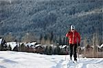 Man Cross Country Skiing, Whistler, British Columbia, Canada Stock Photo - Premium Royalty-Free, Artist: Noel Hendrickson, Code: 600-02757287