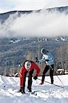 Couple Cross Country Skiing, Whistler, British Columbia, Canada Stock Photo - Premium Royalty-Free, Artist: Noel Hendrickson, Code: 600-02757289