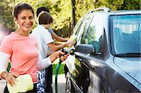 Woman and Teenage Sons Washing Car    Stock Photo - Premium Rights-Managednull, Code: 700-02757209