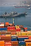 Cargo Containers, Port of Valparaiso, Valparaiso, Chile