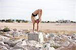 Male Dancer Outdoors, Las Vegas, Nevada, USA    Stock Photo - Premium Rights-Managed, Artist: Tomasz Rossa, Code: 700-02757427