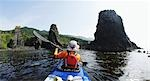 Person Boating on Kayak, Hokkaido, Japan