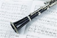Printed Musical Score with Clarinet on White Paper Stock Photo - Premium Royalty-Freenull, Code: 622-02759416