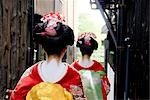 Geisha Women Walking on Street in Kyoto, Japan Stock Photo - Premium Royalty-Free, Artist: Axiom Photographic       , Code: 622-02759472