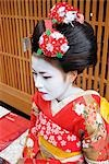 Geisha in Traditional Make-Up and Wearing Kimono Stock Photo - Premium Royalty-Free, Artist: Robert Harding Images    , Code: 622-02759478
