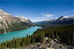 Beautiful View of Mountains Reflecting in Peyto Lake Stock Photo - Premium Royalty-Free, Artist: AWL Images, Code: 622-02759693