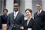 Portrait of lawyers in front of a courthouse Stock Photo - Premium Royalty-Free, Artist: Jerzyworks, Code: 640-02764717