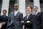 Portrait of lawyers in front of a courthouse Stock Photo - Premium Royalty-Freenull, Code: 640-02764718