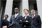 Portrait of lawyers in front of a courthouse Stock Photo - Premium Royalty-Freenull, Code: 640-02764719