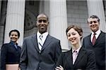 Portrait of lawyers in front of a courthouse Stock Photo - Premium Royalty-Free, Artist: Arcaid, Code: 640-02764720