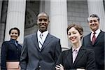 Portrait of lawyers in front of a courthouse Stock Photo - Premium Royalty-Free, Artist: Arcaid, Code: 640-02764721