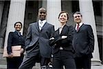 Low angle view of lawyers in front of a courthouse Stock Photo - Premium Royalty-Freenull, Code: 640-02764722