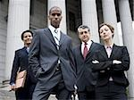 Low angle view of lawyers in front of a courthouse Stock Photo - Premium Royalty-Free, Artist: Arcaid, Code: 640-02764723