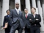 Low angle view of lawyers in front of a courthouse Stock Photo - Premium Royalty-Freenull, Code: 640-02764724