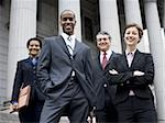 Low angle view of lawyers in front of a courthouse Stock Photo - Premium Royalty-Freenull, Code: 640-02764725