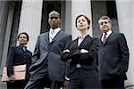 Low angle view of lawyers in front of a courthouse Stock Photo - Premium Royalty-Freenull, Code: 640-02764727