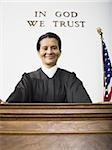 Portrait of a female judge smiling Stock Photo - Premium Royalty-Free, Artist: CulturaRM, Code: 640-02764733