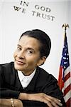 Portrait of a female judge smiling Stock Photo - Premium Royalty-Free, Artist: Arcaid, Code: 640-02764735
