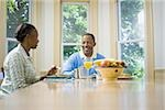 Senior man and a senior woman having breakfast Stock Photo - Premium Royalty-Freenull, Code: 640-02766890