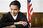 Portrait of a female judge smiling Stock Photo - Premium Royalty-Free, Artist: Arcaid, Code: 640-02767840