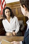 A female witness looking at a female lawyer Stock Photo - Premium Royalty-Freenull, Code: 640-02767846