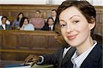 Portrait of a female lawyer smiling Stock Photo - Premium Royalty-Free, Artist: Jerzyworks, Code: 640-02767861