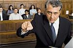 Portrait of a male lawyer pointing Stock Photo - Premium Royalty-Free, Artist: Arcaid, Code: 640-02767877