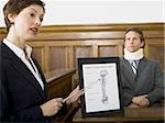 A female lawyer pointing at evidence in front of a victim in a courtroom Stock Photo - Premium Royalty-Freenull, Code: 640-02767887