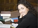 Female lawyer smiling in courtroom Stock Photo - Premium Royalty-Freenull, Code: 640-02768824