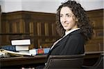 Female lawyer smiling in courtroom Stock Photo - Premium Royalty-Freenull, Code: 640-02768828