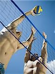 Jumping volleyball players Stock Photo - Premium Royalty-Free, Artist: David P. Hall, Code: 640-02770371