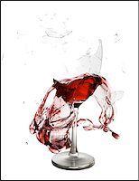 Exploding wine glass Stock Photo - Premium Royalty-Freenull, Code: 640-02770397