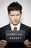 Mug shot of businessman Stock Photo - Premium Royalty-Freenull, Code: 640-02770780