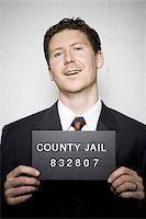 Mug shot of businessman Stock Photo - Premium Royalty-Freenull, Code: 640-02770781