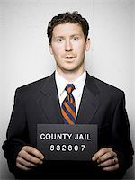 Mug shot of businessman Stock Photo - Premium Royalty-Freenull, Code: 640-02770782