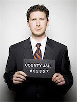 Mug shot of businessman Stock Photo - Premium Royalty-Freenull, Code: 640-02770783